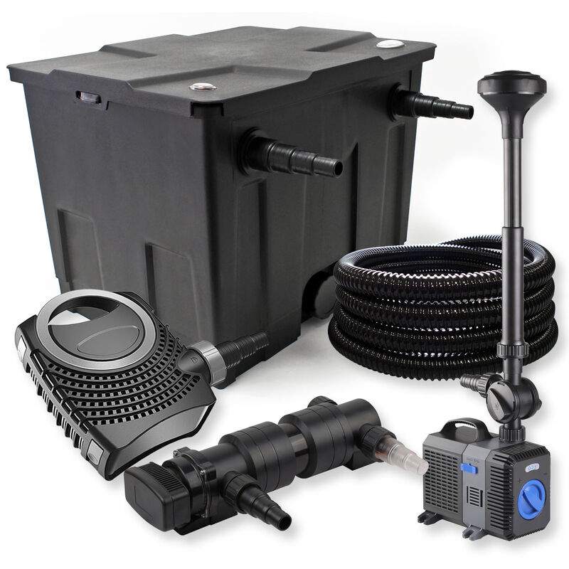 Wiltec - SunSun Kit de filtration de bassin 12000l 24W UVC Stérilisateur NEO8000 70W Pompe Tuyau Fontaine