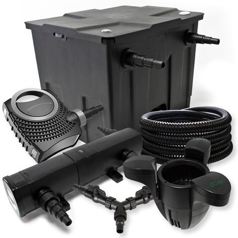 Kit filtration de bassin 12000l 36W Stérilisateur NEO8000 70W Pompe 25m Tuyau Skimmer SK30