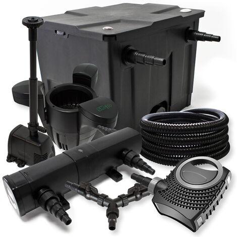 Kit filtration de bassin 12000l 36W Stérilisateur NEO8000 70W Pompe 25m Tuyau Skimmer SK30 Fontaine