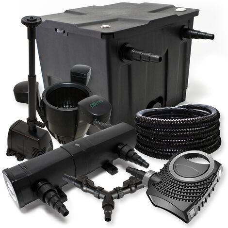 Kit filtration de bassin 12000l 36W Stérilisateur NEO8000 70W Pompe 25m Tuyau Skimmer SK40 Fontaine