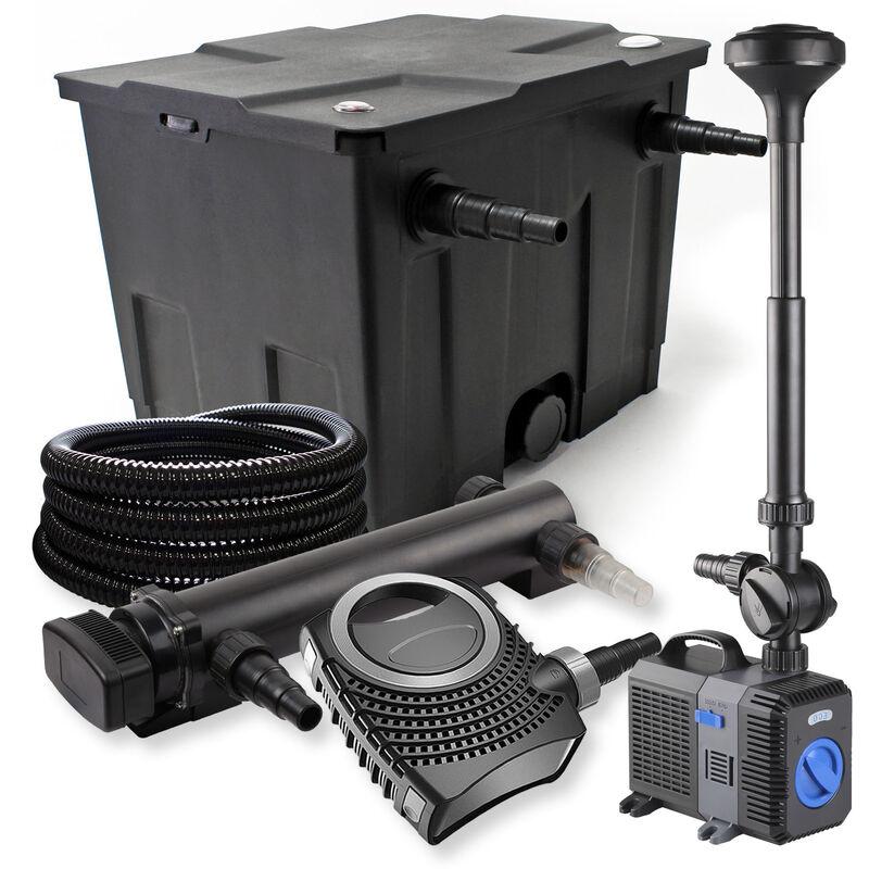 Wiltec - SunSun Kit de filtration de bassin 12000l 36W UVC Stérilisateur NEO8000 70W Pompe Tuyau Fontaine