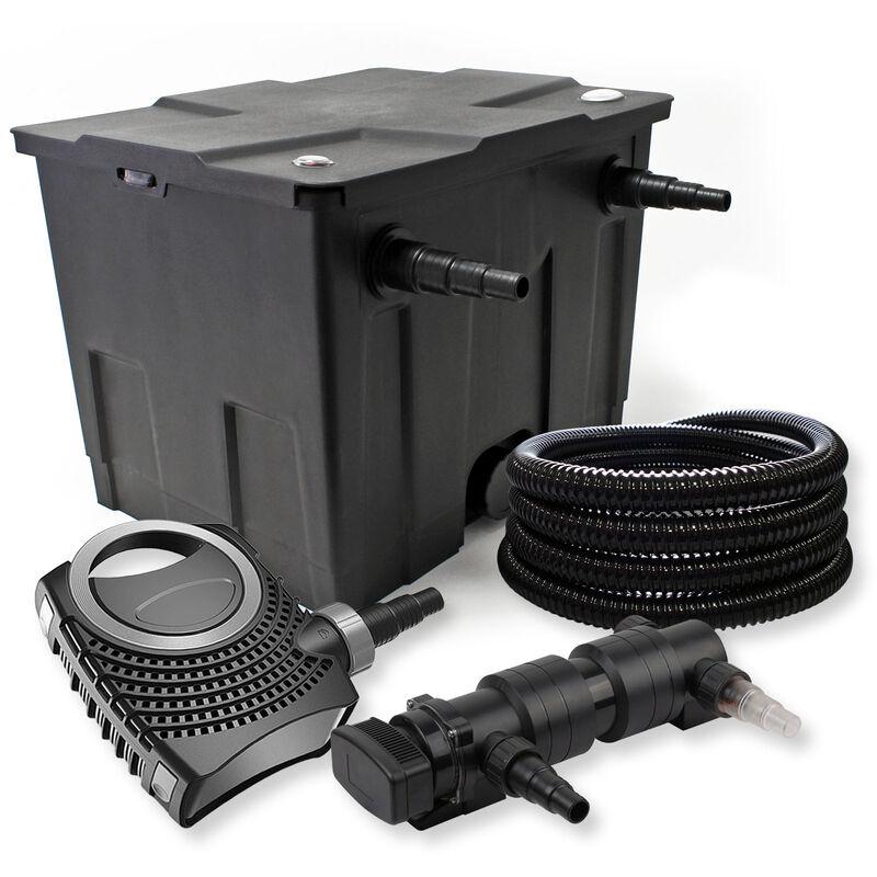 Wiltec - SunSun Kit de filtration de bassin 12000l 24W UVC 6. Stérilisateur NEO8000 70W Pompe Tuyau