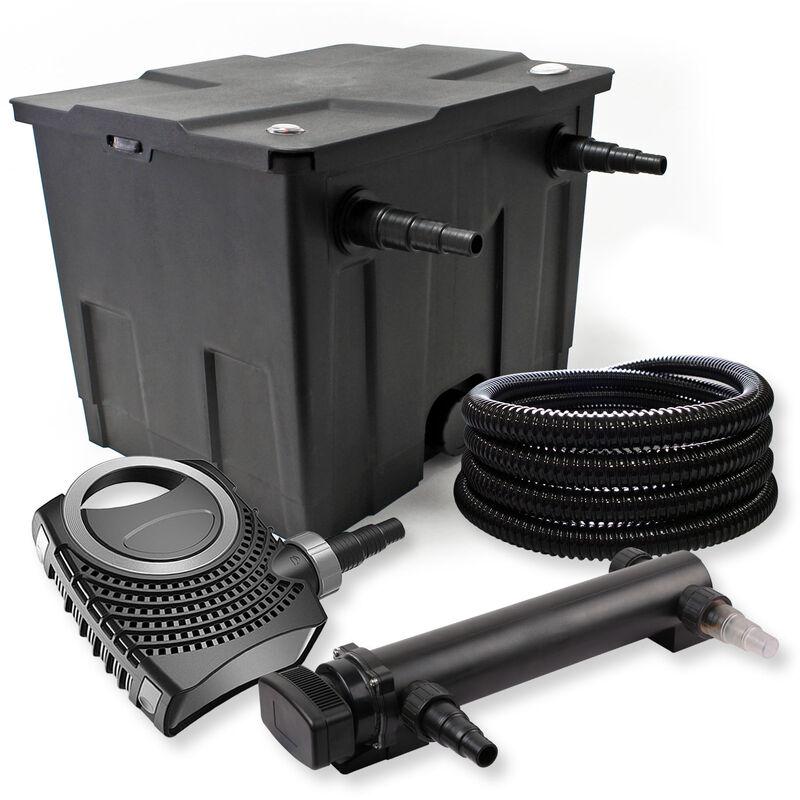 Wiltec - SunSun Kit de filtration de bassin 12000l 36W UVC 3. Stérilisateur NEO8000 70W Pompe Tuyau