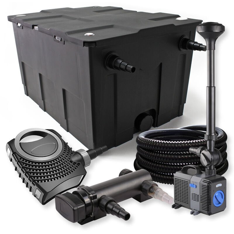 Wiltec - SunSun Kit de filtration de bassin 60000l 18W UVC Stérilisateur NEO8000 70W Pompe Tuyau Fontaine