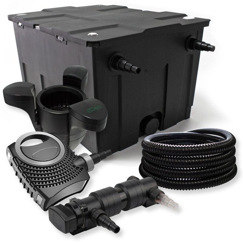 Wiltec - SunSun Kit de filtration de bassin 60000l 18W UVC Stérilisateur NEO8000 70W Pompe Tuyau Skimmer