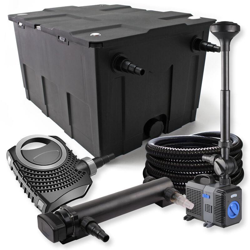 Wiltec - SunSun Kit de filtration de bassin 60000l 24W UVC Stérilisateur NEO8000 70W Pompe Tuyau Fontaine
