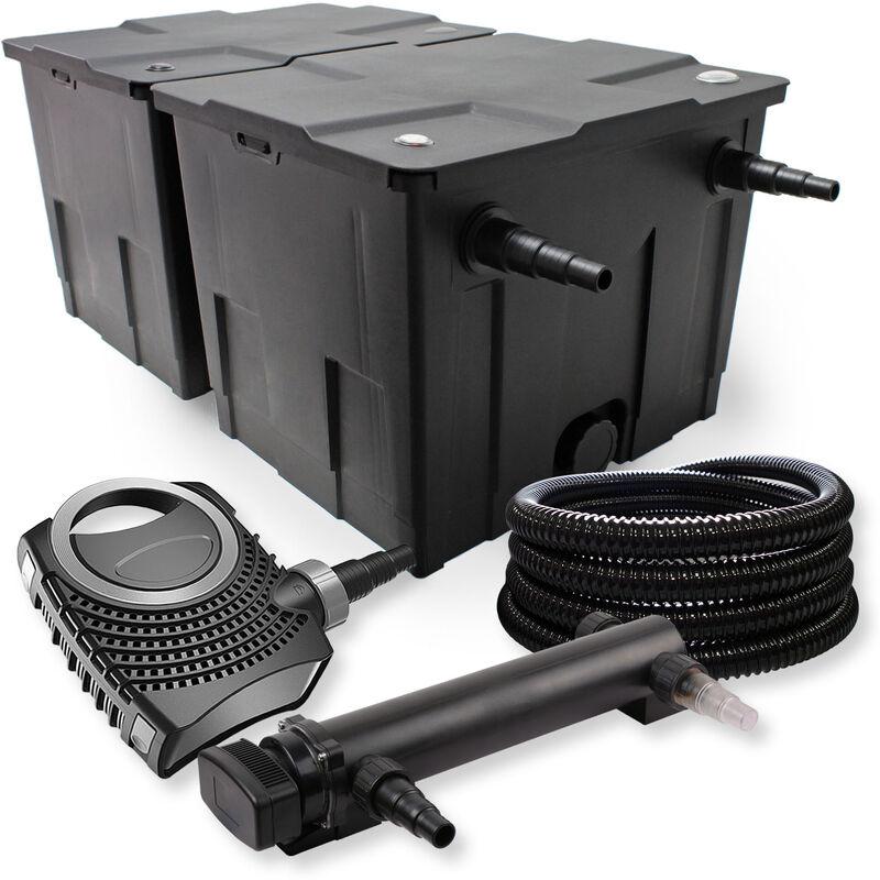 Wiltec - SunSun Kit de filtration de bassin 60000l 24W UVC 3. Stérilisateur NEO8000 70W Pompe Tuyau