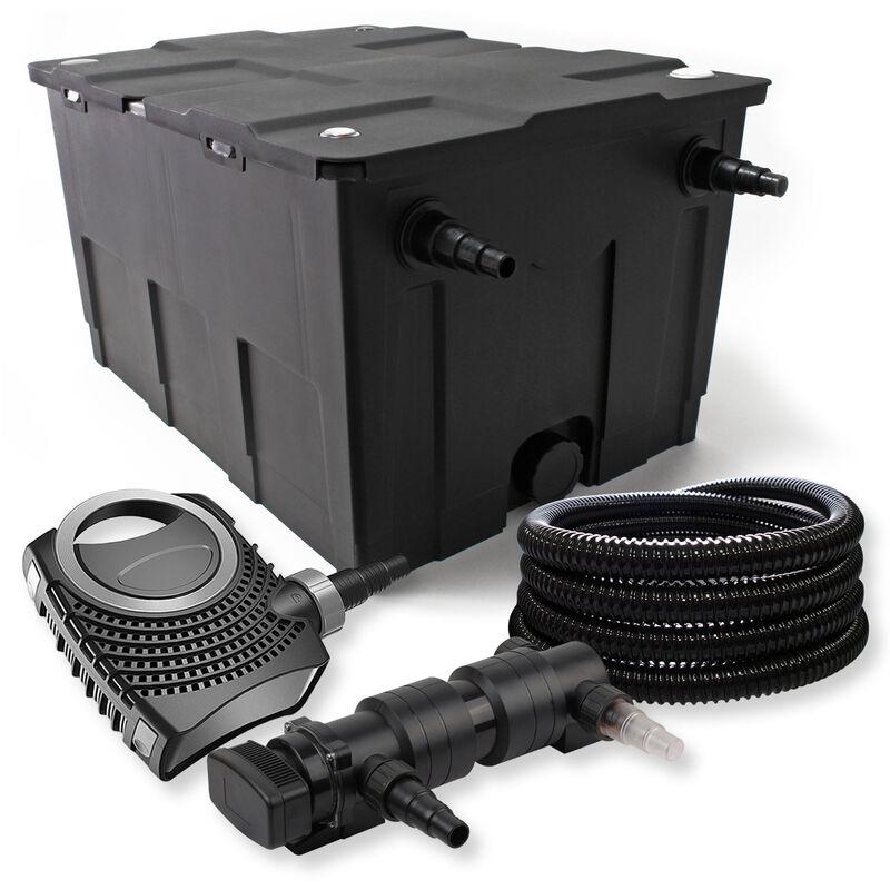 Wiltec - SunSun Kit de filtration de bassin 60000l 24W UVC 6. Stérilisateur NEO8000 70W Pompe Tuyau