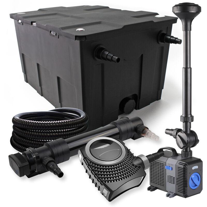Wiltec - SunSun Kit de filtration de bassin 60000l 36W UVC Stérilisateur NEO8000 70W Pompe Tuyau Fontaine