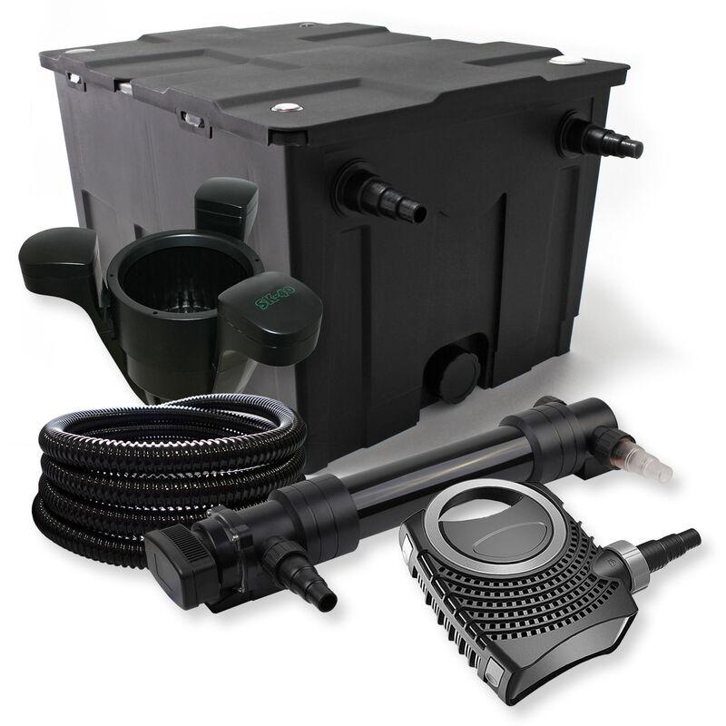 Wiltec - SunSun Kit de filtration de bassin 60000l 36W UVC Stérilisateur NEO8000 70W Pompe Tuyau Skimmer