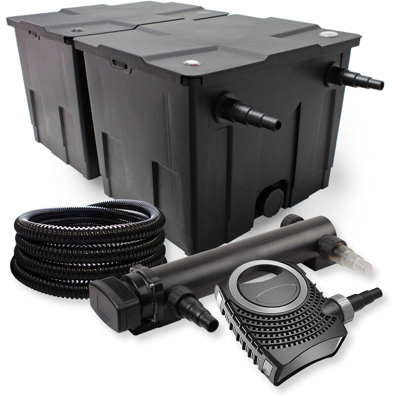 SunSun Kit de filtration de bassin 60000l 36W UVC 3. Stérilisateur NEO8000 70W Pompe Tuyau