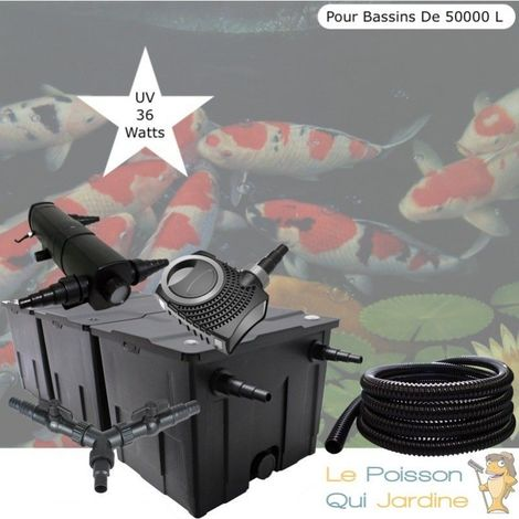 Kit Filtration, UV 36W, Pour Bassins De Jardin De 50000 L