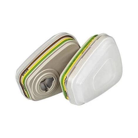 Kit filtre anti-poussière et filtre anti-gaz ABEK1 P3 R 3M - 6004PRO 01