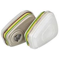 Kit filtre anti-poussière et filtre anti-gaz ABEK1 P3 R 3M - 6004PT0