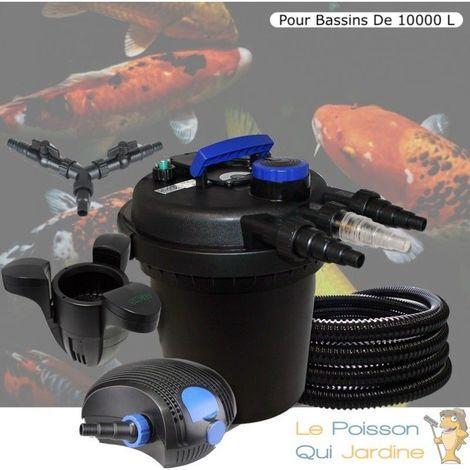 Kit Filtre Pression, 11 W Fontaine, Écumeur, Pompe 10000l/h, Pour Bassins 10000 L