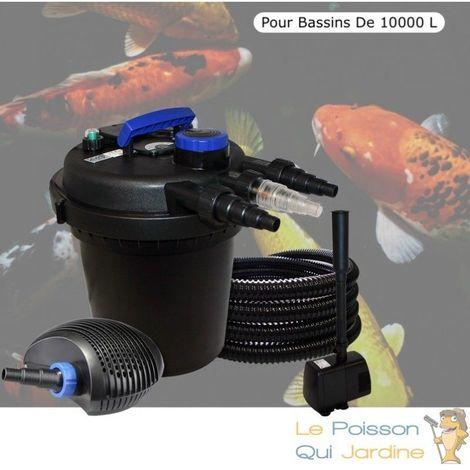 Kit filtre pression 11W complet + fontaine pour bassins de 10000 l