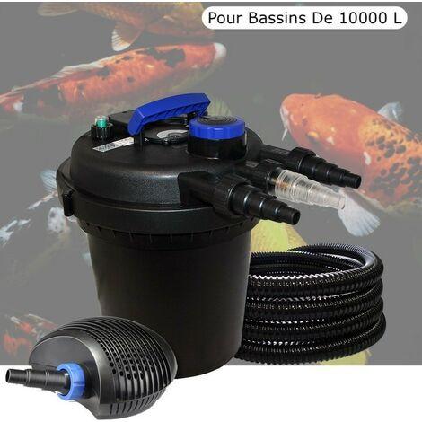 Kit Filtre Pression, 11W, Complet Pour Bassins De 10000 L, Pompe 6000 L/h