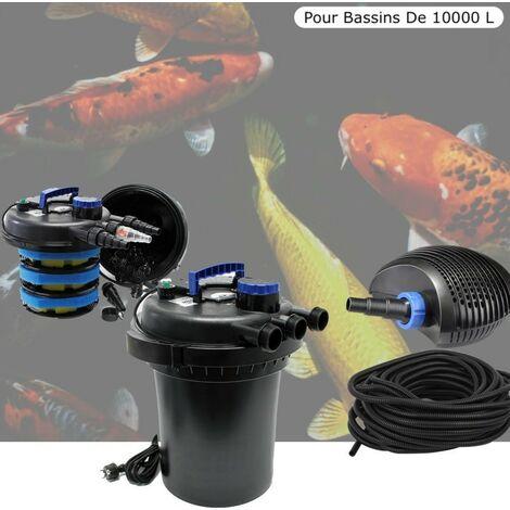 Kit Filtre Pression, 11W, Complet Pour Bassins De 10000 litres
