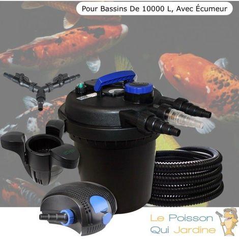 Kit Filtre Pression 11W, Écumeur, Pour Bassins De 10000 L