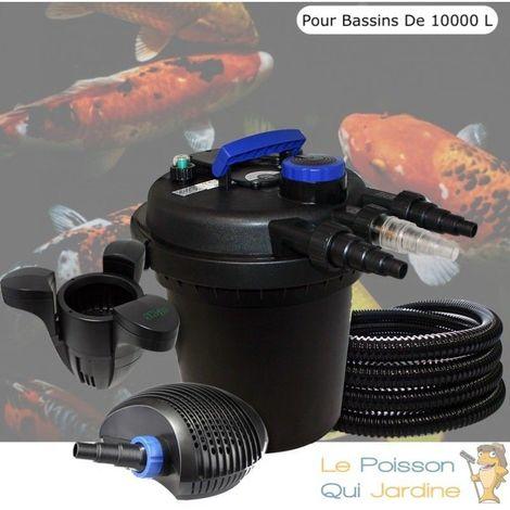 Kit Filtre Pression 11W + Écumeur Pour Bassins De 10000 L