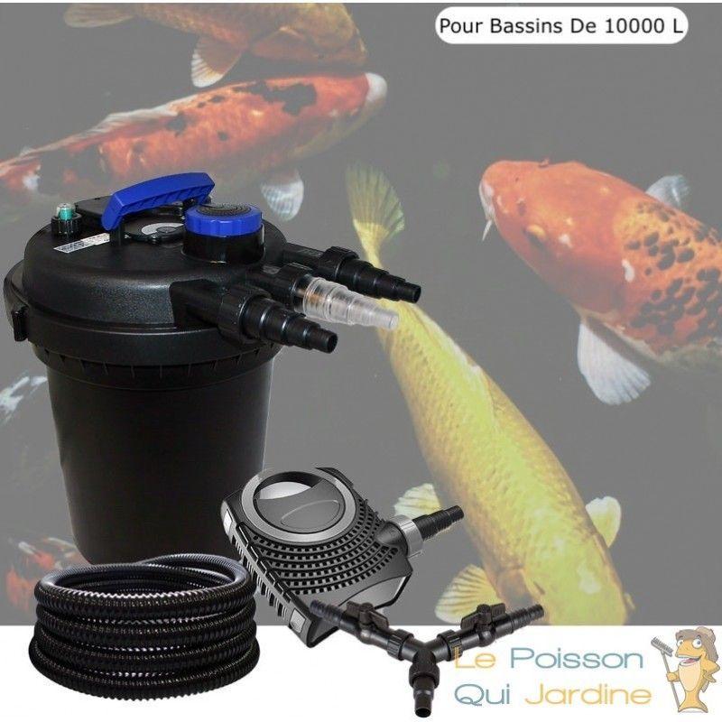 Kit Filtre Pression 11 W Complet Pour Bassins De 10000 L - LE POISSON QUI JARDINE