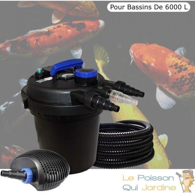 Kit Filtre Pression, 11W, Complet Pour Bassins De 6000 L - LE POISSON QUI JARDINE