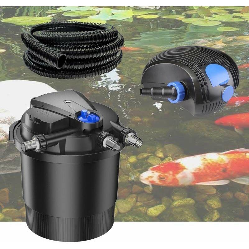 Kit Filtre Pression UV 36W, Pompe, Tuyau Pour Bassins De 40000 L - LE POISSON QUI JARDINE