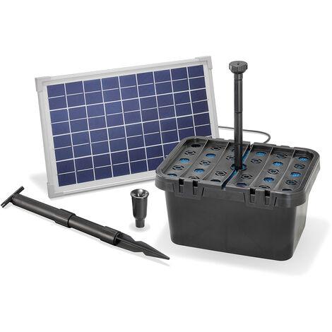 Kit filtre solaire pour bassin 10/610 Kit pompe solaire pour bassin de jardin esotec 101066