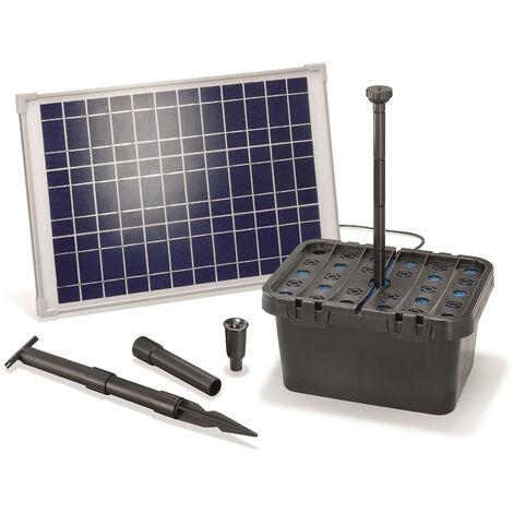 Kit filtre solaire pour bassin 20/1300 Kit pompe solaire pour bassin de jardin esotec 101067