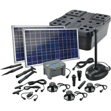 Kit filtre solaire pour bassin 50/1700 + batterie Filtre pour pompe solaire bassin de jardin esotec 101075