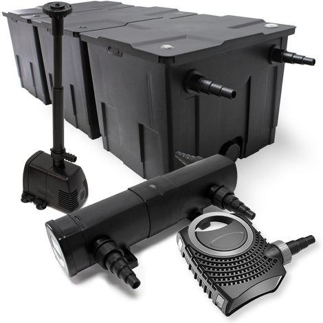 Kit filtro 90000l clarificador estanque 36W UVC 115W Bomba diseño fuente