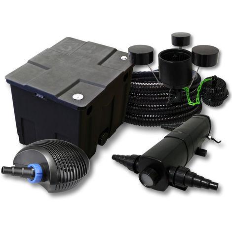 Kit Filtro de estanques 12000l 18W Clarificador CTF Bomba 20W 25m tubo skimmer CSP-250
