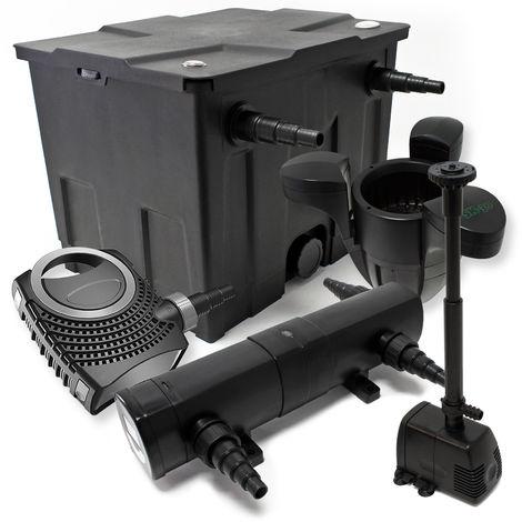 Kit filtro estanque Bio 12000L Clarificador UVC 18W 80W bomba de bajo consumo tipo fuente ecumeur