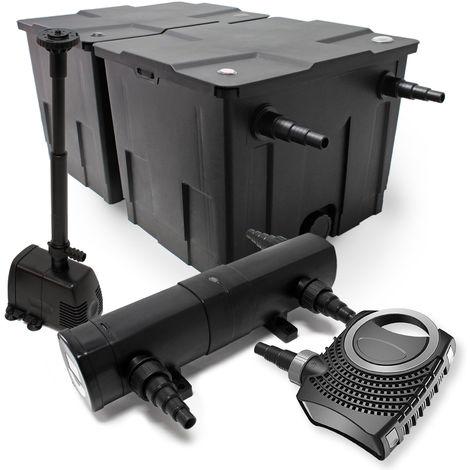 Kit filtro estanque Filtro Biológico 60000l clarificador UVC 18W 80W bomba ecológica de fuente