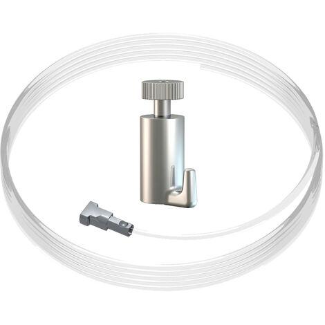 Kit fixation câble perlon Twister et crochet autobloquant Classic : charge 15 kg - Artiteq - 0.5