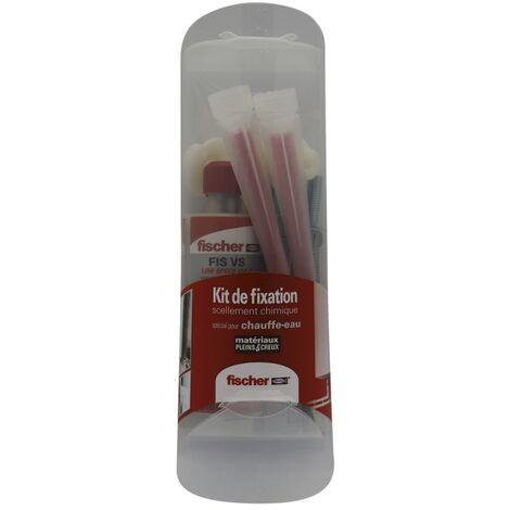 Kit fixation de chauffe eau, stores, antennes avec scellement FIS vinylister 150ml 4 tamis, 4 tiges 10x160, 4 écrous