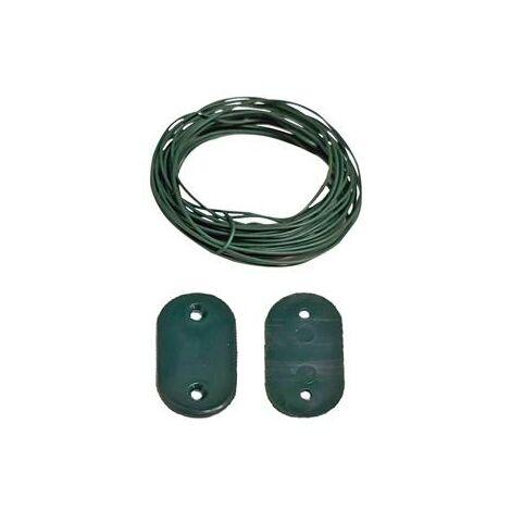 Kit fixation vert pour brise-vue lot de 30 avec 4 mètres de fil