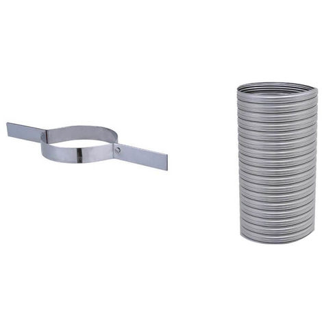Kit flexible FLEXITHERM - Kit 7m de flexible de tubage + collier de tubage. Diamètre intérieur 180mm extérieur 186mm