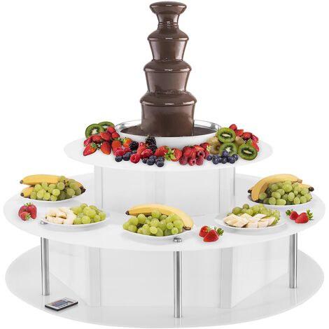 Kit Fontaine À Chocolat Base Lumise 4 Étages 16 Couleurs 6 Effets 230W