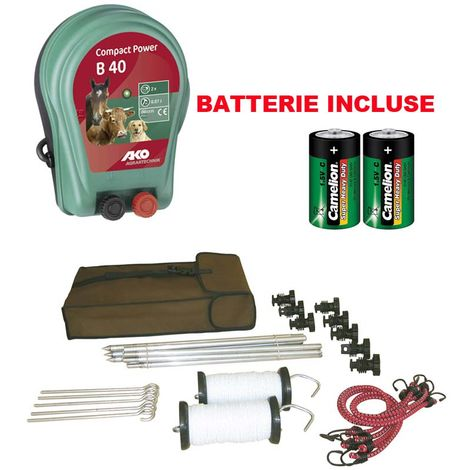 Kit for portable electric fence for trekking CORRAL TRAVEL KIT total weight of 3 kg