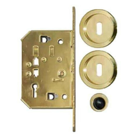 Kit for roller shutter door - round handles - key L - brass
