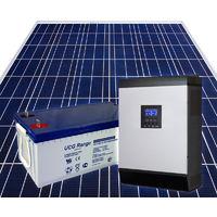 Kit fotovoltaico con accumulo 500Wp con inverter ibrido 2400W UPS