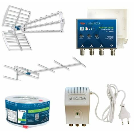 KIT FTE antenne alimentation amplificateur câble KITDTT6