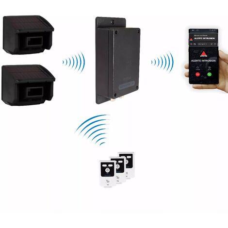 Kit furtif extérieur 100% autonome double détection de mouvement + alerte silencieuse GSM 3G Appel/SMS (gamme BT)