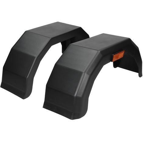 """Kit garde boue plastique 13"""" noir pour pneu roue de remorque résistant aux chocs"""