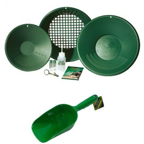 Kit gold pan garrett ricerca oro batea setaccio batee bottiglia + sassola