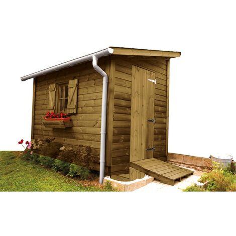 Kit gouttière PVC pour abris de jardin en bois - Gris - INTERPLAST