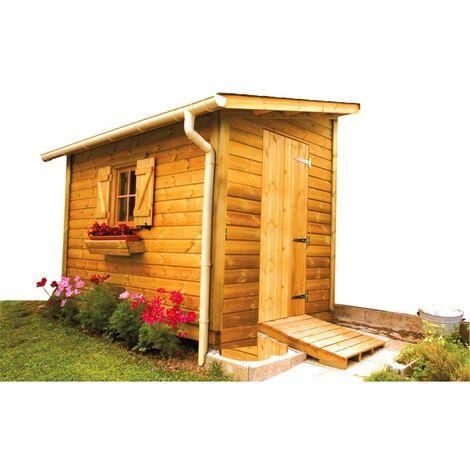 Kit gouttière PVC pour abris de jardin en bois -Sable - INTERPLAST