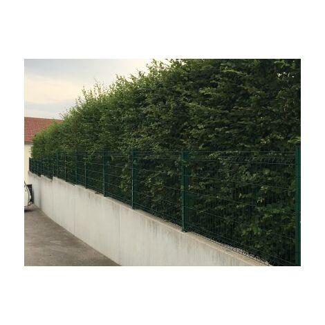 Kit Grillage Rigide Vert 10M - JARDIMALIN+ - Fil 4mm - Sur Platines - 0,63 mètre