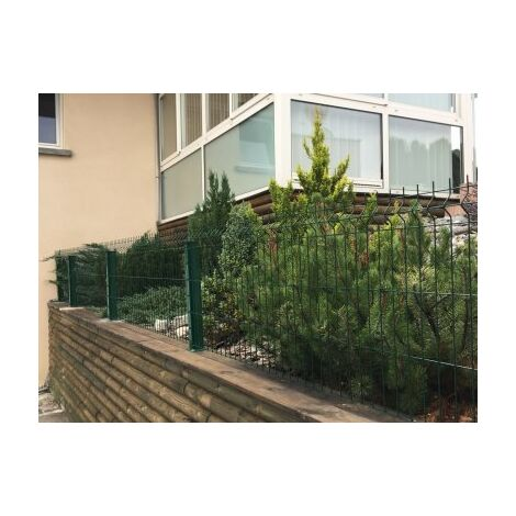 Kit Grillage Rigide Vert 10M - JARDIPREMIUM+ - Fil 4/5mm - Sur Platines - 1,03 mètre